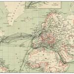 Telegrafenleitungen 1901, Quelle: wikipedia